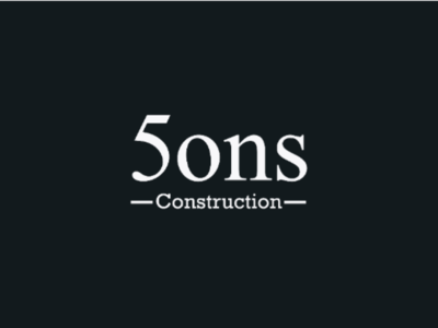 5 sons construction logo clever logo creative logo brand designer brand identity typographic logo wordmark typography branding logo designer logo design 5sons logo sons construction logo