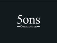 5 sons construction logo clever logo creative logo brand designer brand identity typographic logo wordmark typography branding logo designer logo design 5sons logo sons construction logo