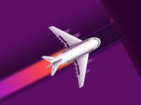 Plane progress bar