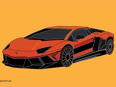 Lamborghini design vector illustration adobe illustrator supercars lamborghini