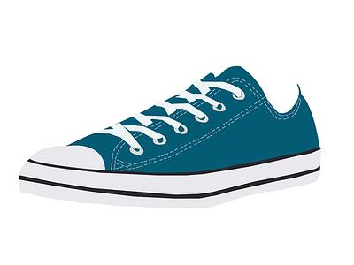 Sneakers converse vector design illustrator