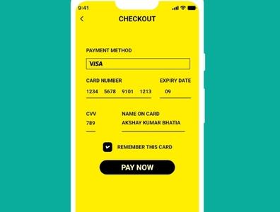 Daily UI - 002 - Credit Card Checkout dailyui 002 user inteface creditcard ui design