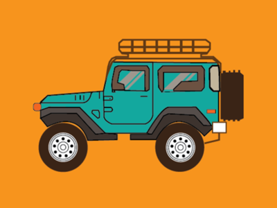 Jeep Illustration design vector illustration illustrator jeep