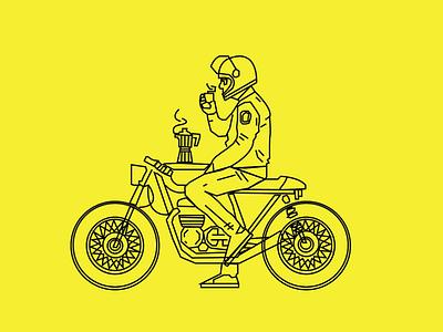 RIDER travel biker bikes bike rider illustrator illustration