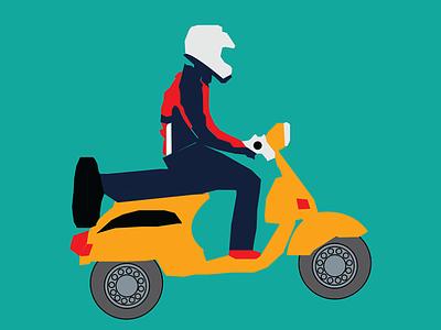 bajaj chetak design scooter art adobe illustrator illustrator illustration
