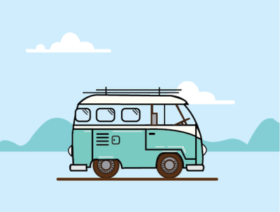 van intothewild van illustration illustrator vector adobe illustrator travel logo design
