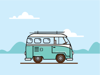 van intothewild van illustration illustrator vector adobe illustrator travel logo design