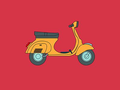 vespa vespa travel art adobe illustrator vector illustration