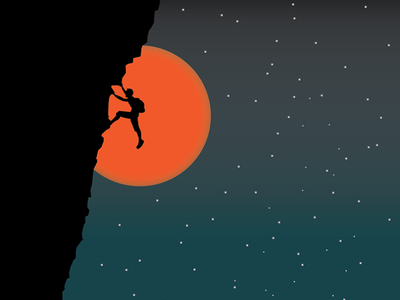 rock climbing rockclimbing vector travel art illustrator illustration