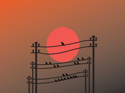 bird sunset art vector adobe illustrator travel illustrator