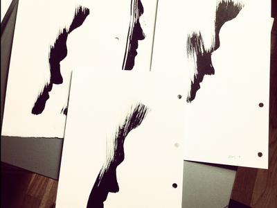Moz Stencils morrissey poster rock poster gig poster hand printed screen print silkscreen hand painted sumi-e