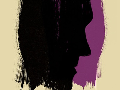 Moz Poster  morrissey poster rock poster gig poster hand printed screen print silkscreen black violet cream french paper