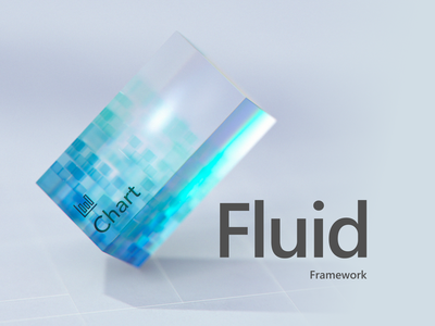 Microsoft Fluid Framework cinema4d component grid cube blue product film microsoft c4d 3d