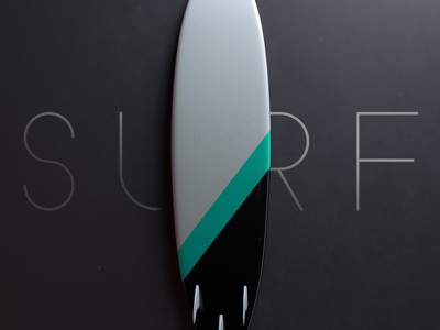 Surf dramatic surfboard surf arnoldrenderer 3d cinema4d c4d