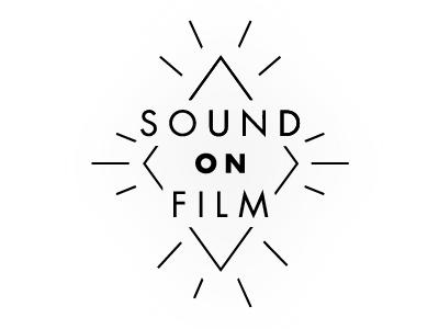 Sound On Film Logo  logo film radio logo development black and white black and white logo
