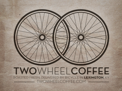 Two wheel logo dribbble
