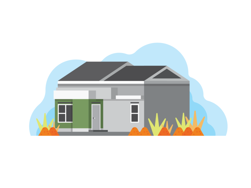 Our Home simple flatdesign home house illustration house background vector funny design cute icon illustration