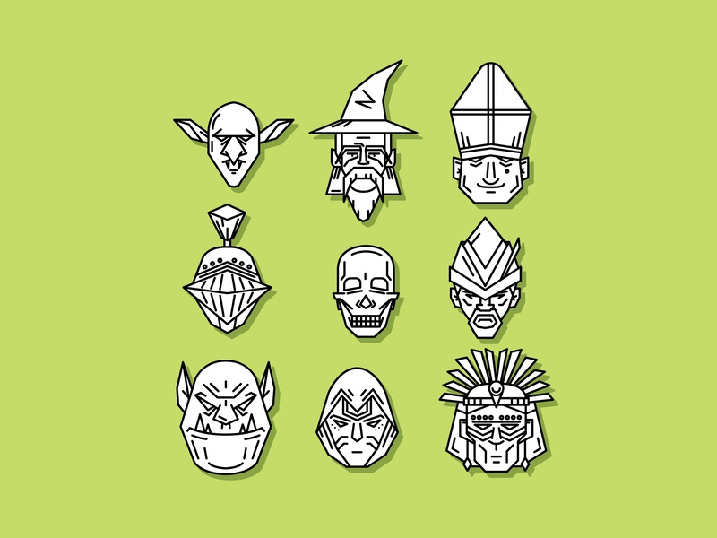 Fantasy Chracter folklore fantasy symbol icon lineart cute character illustration