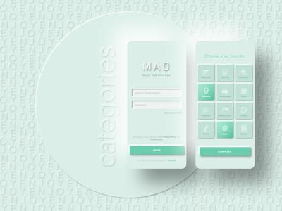Audiobook app mockup webdesign ux ui app mobile minimal branding design neomorphism