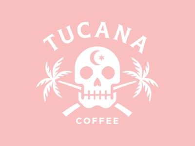 Tucana Coffee skull palm tree coffee