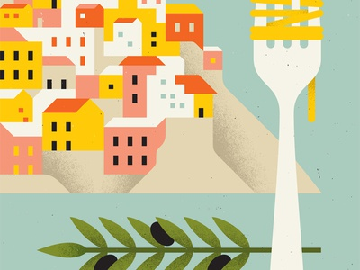 Italy italy pasta fork olive