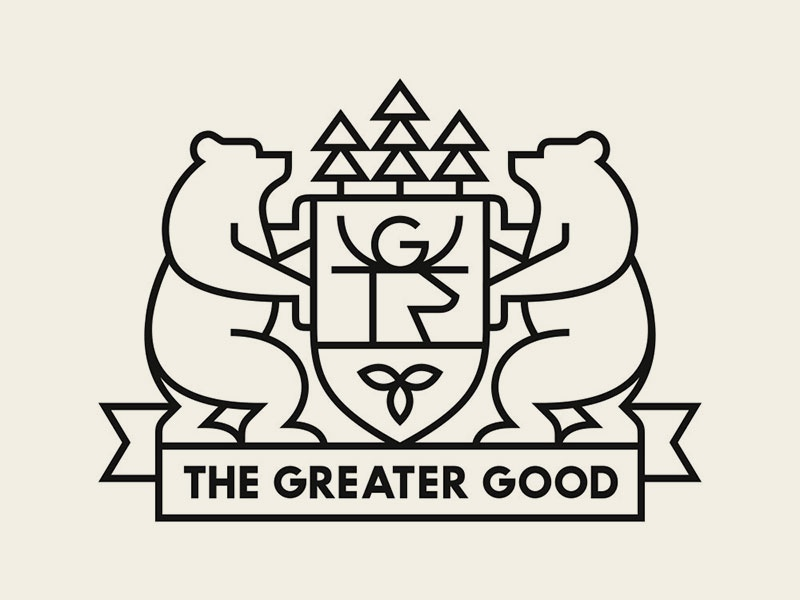 The Greater Good coat of arms deer greater good trees crest bears