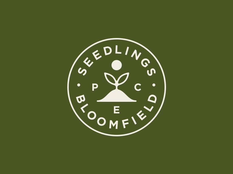 Seedlings crest sun plant seedlings branding logo
