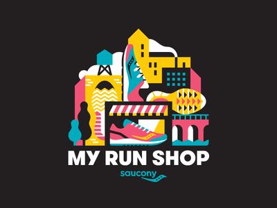 Saucony My Run Shop urban city sneakers running