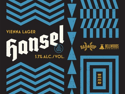 Hansel pattern vienna beer