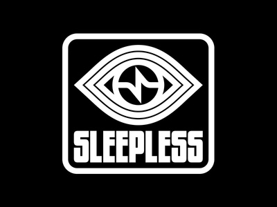 Sleepless Records thick lines modern eye