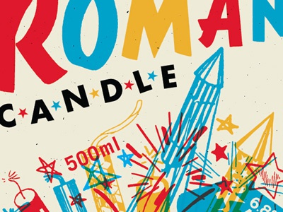 Roman Candle beer label