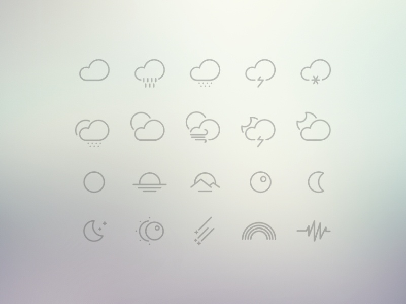 61 Weather Icons Collection | Free icons weather set collection free kit download freebie ui