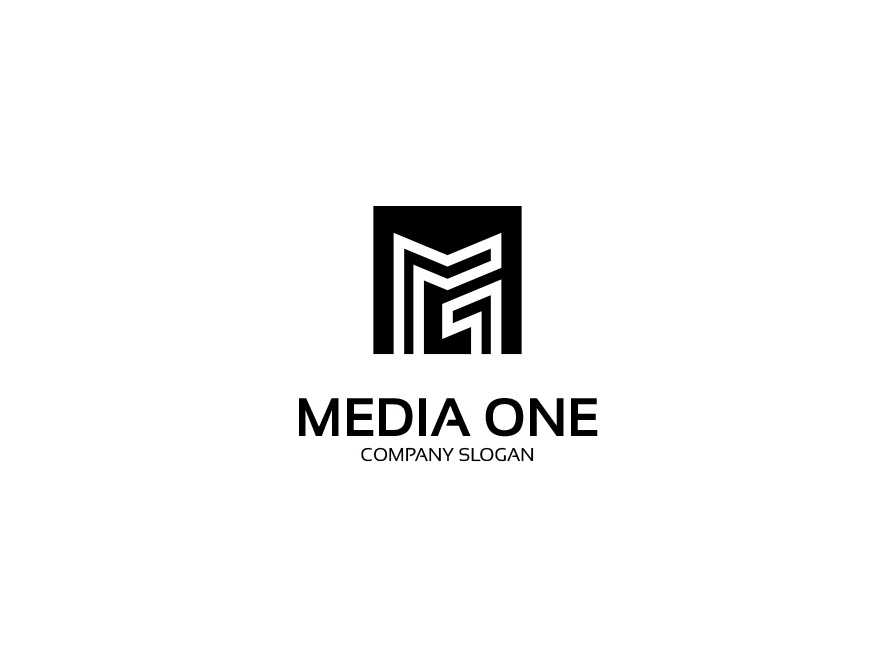 Media one Logo letter one creative business media