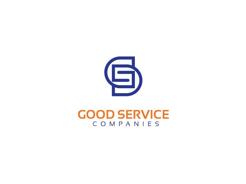 GS Logo clever service good word as image word game connected based word letter