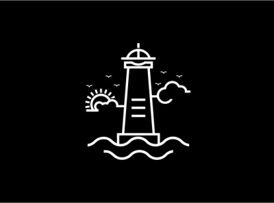 Lighthouse line drawing