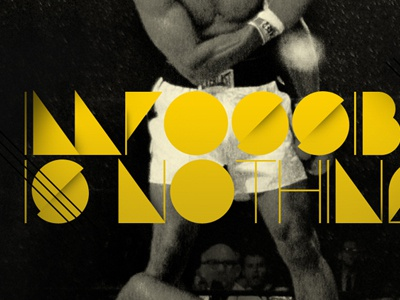Poster poster typography art direction ali adidas photo retouch