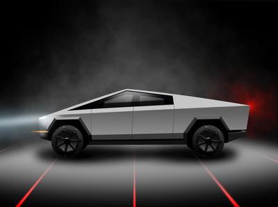 Tesla Cybertruck Vector