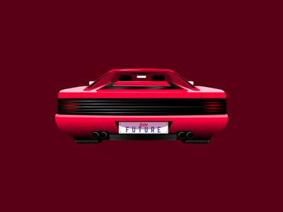 Ferrari Testarossa - Vector