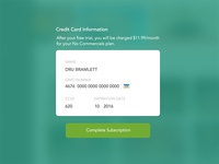 Day 2 - Credit Card Form - Daily UI