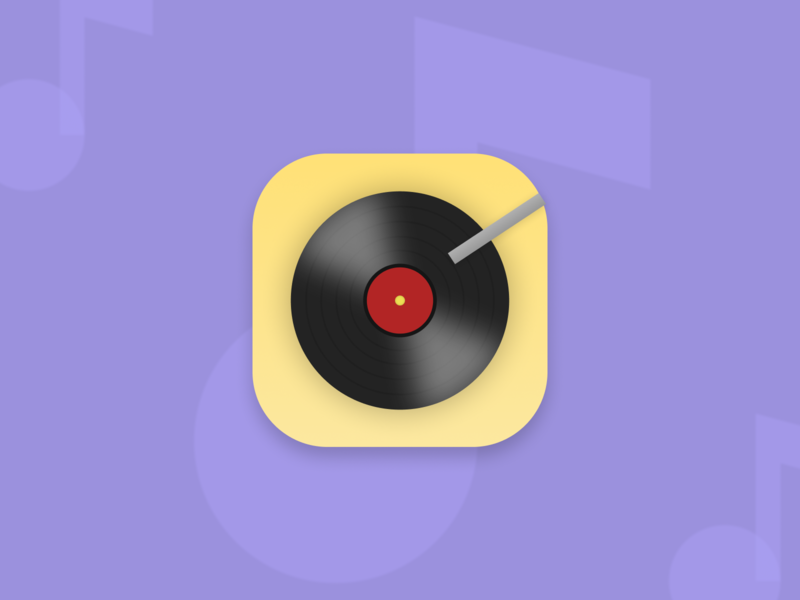 Music Player App Icon icon design pastels music player app icon design daily ui 5 daily ui challenge daily ui app icon music app music
