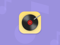Music Player App Icon icon design pastels music player app icon design daily ui 5 daily ui challenge daily ui app icon music app music