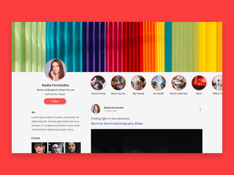 User Profile UI figma colorful daily ui 6 daily ui challenge social media ui ui user profile ui user profile social media design social media