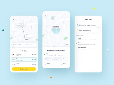 Cab Booking App ride booking app design car taxi service app android shot uidesign ux ui taxi app booking cab