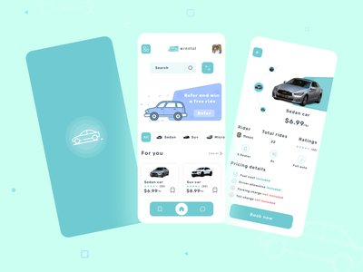 Car rental app trending renting landingpage homepage design inteface ios app car rent design minimal designideas colorful ux ui uidesign mobile car app rental app rent car rental app