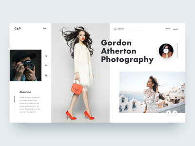 📸Photographer Portfolio Concept ux ui web layout portfolio photographer photo photography fashion
