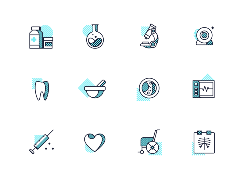 Telemedicine Icons design hospital pharmacy aid icon features service dashboard startup medicine graphic illustration telemedicine icons