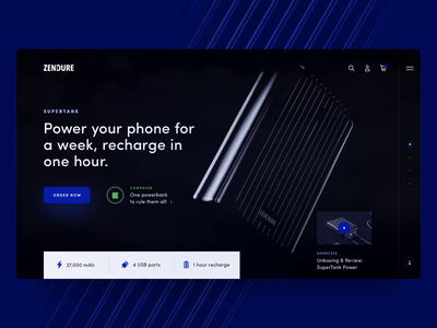 SuperTank Bank Charger gadget charger black video halolab internetofthings kickstarter ux promo web website ui