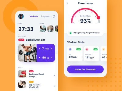 Workout Tracker App mobile design product design movement activity shape coach fit programs bodybuilding stamina gym physique skills fitness ios workout mobile exercise application training app workout tracker