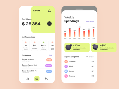 A-Bank Mobile UI