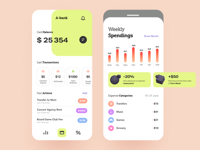 A-Bank Mobile UI banking product mobile app budget accounting savings information transaction debit investment money funding financial management currency credit trust verification economic financial business bank app